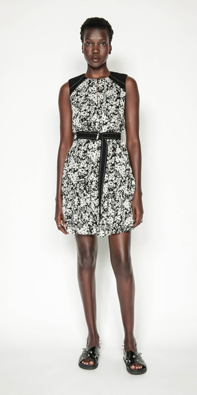 Made in Australia | Monochrome Poppy Belted Dress