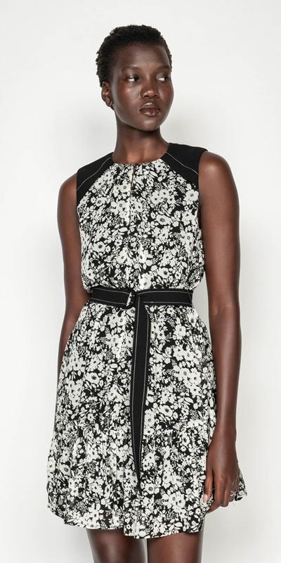 Dresses | Monochrome Poppy Belted Dress