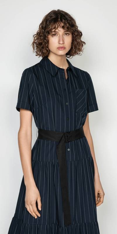 Wear to Work  | Pinstripe Shirt Dress
