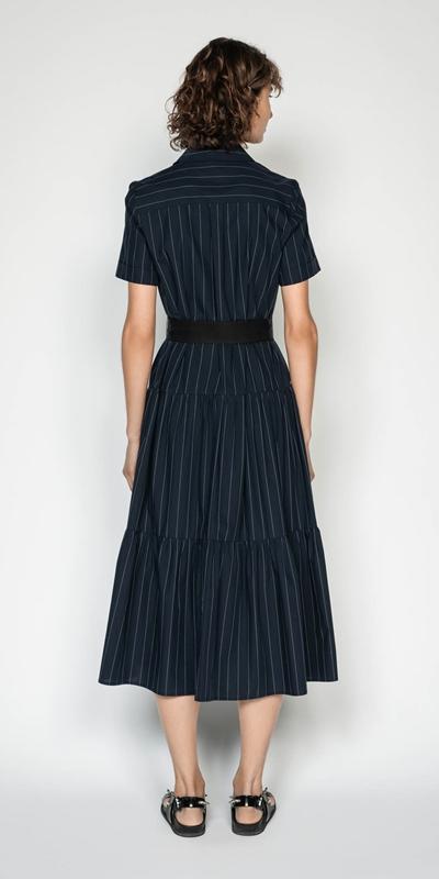 Dresses   Pinstripe Shirt Dress