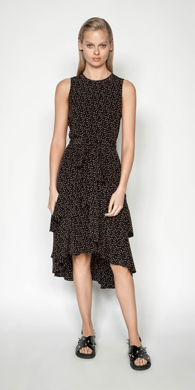 Made in Australia | Scattered Spot Tiered frill Dress