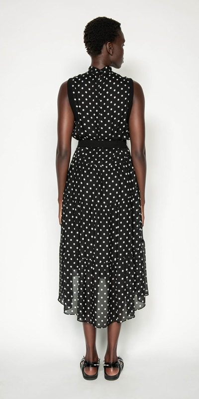 Dresses | Spot Tiered Midi Dress