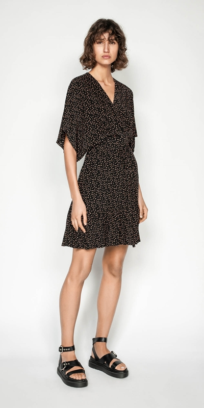 Made in Australia | Scattered Spot Split Sleeve Dress
