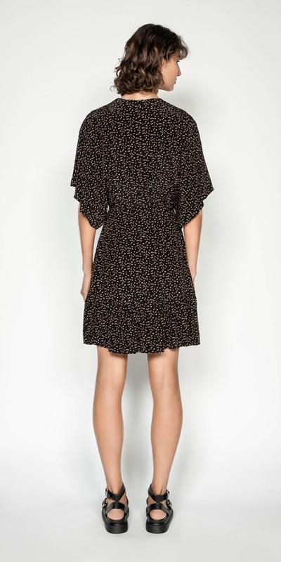 Dresses | Scattered Spot Split Sleeve Dress