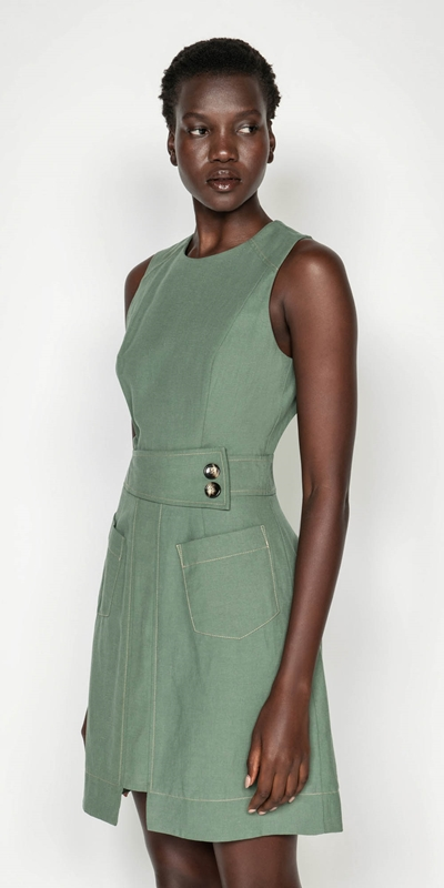 Made in Australia  | Tencel Cotton Step Hem Dress