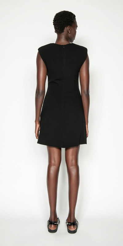 Dresses | Sharp Shoulder Shift Dress