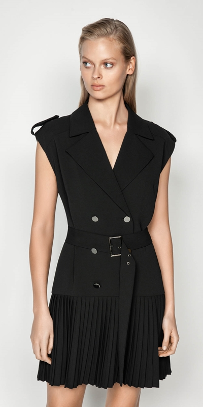 Wear to Work  | Black Trench Dress