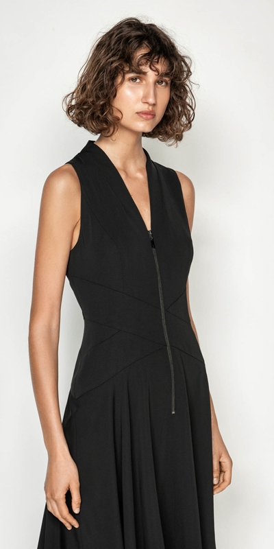 Made in Australia  | Washer Crepe Handkerchief Hem Dress