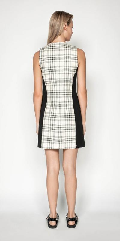 Dresses | Check Trapeze Dress