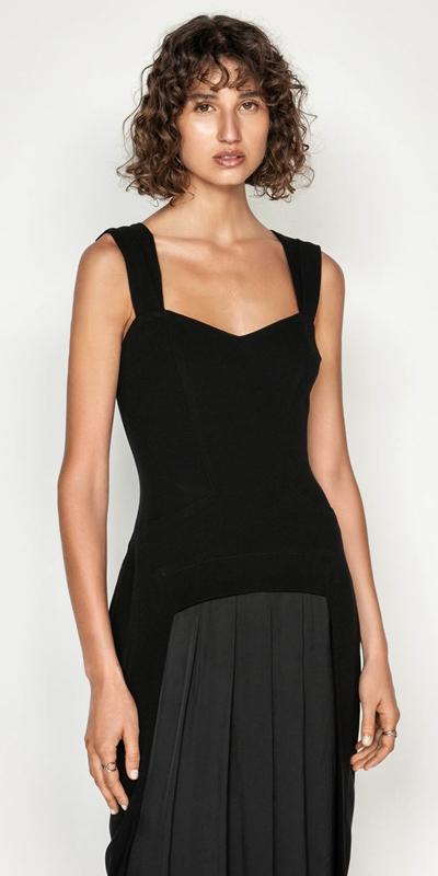 Dresses | Pleat Front Pencil Dress