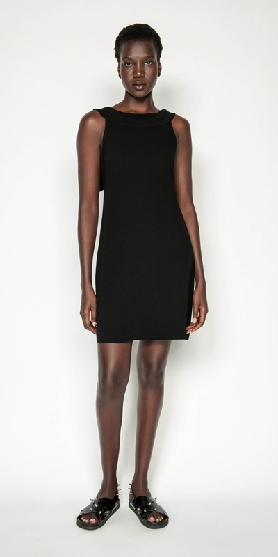 Made in Australia | Crepe Draped Boat Neck Dress