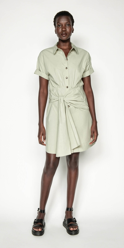 Made in Australia | Tie Waist Shirt Dress