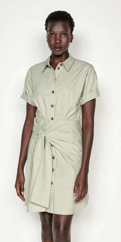 Dresses | Tie Waist Shirt Dress