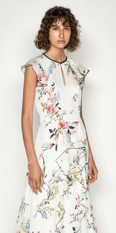 Made in Australia  | Oriental Blossom Midi Dress