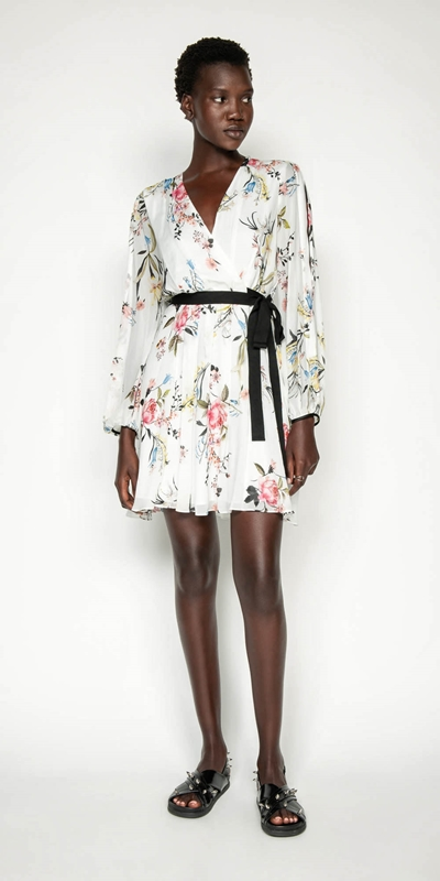 Dresses | Oriental Blossom Blouson Sleeve Dress