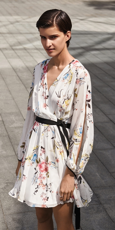 Made in Australia  | Oriental Blossom Blouson Sleeve Dress