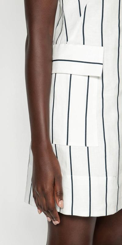 Dresses | Striped Linen Button Front Dress