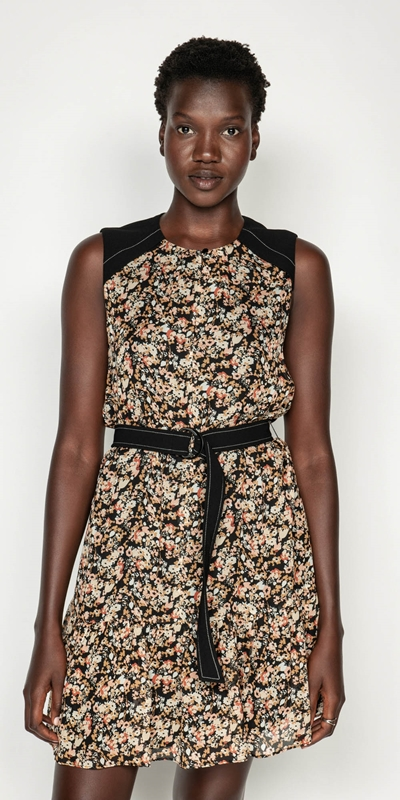Made in Australia  | Mini Floral Belted Dress