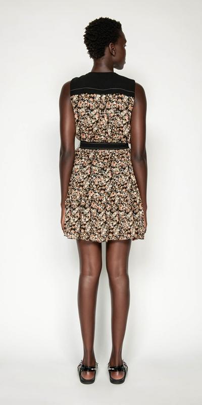 Dresses | Mini Floral Belted Dress