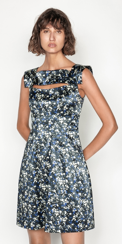 Made in Australia  | Abstract Floral Satin Dress