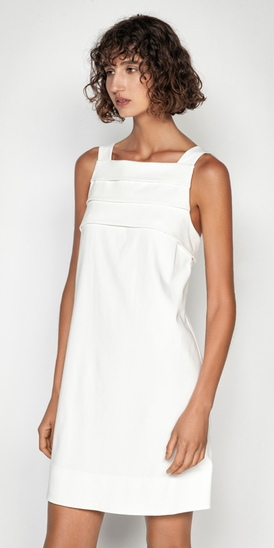 Made in Australia  | Cotton Dobby Tuck Front Dress