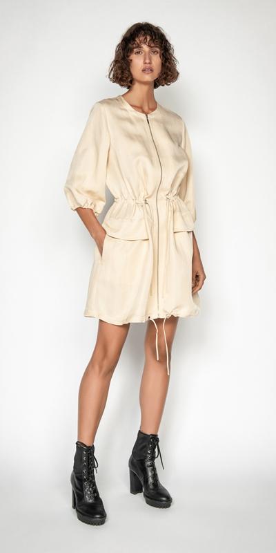 Sale | Linen Ruched Waist Dress