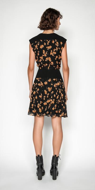 Dresses | Rosette Viscose Keyhole Dress