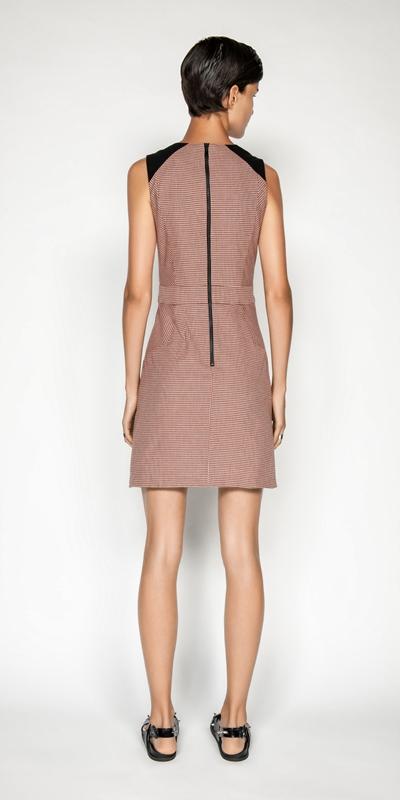 Dresses | Cotton Linen Check A-line Dress