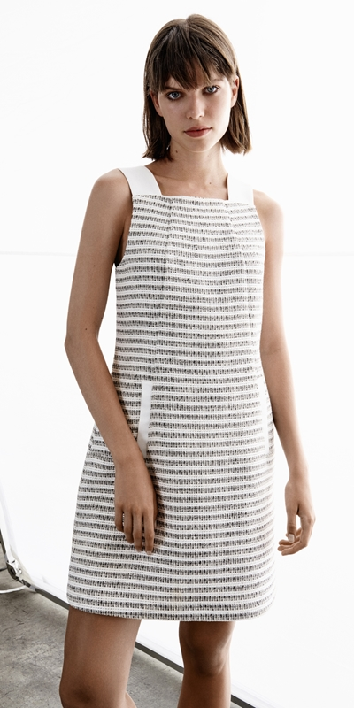 Made in Australia  | Cotton Boucle Stripe Shift Dress