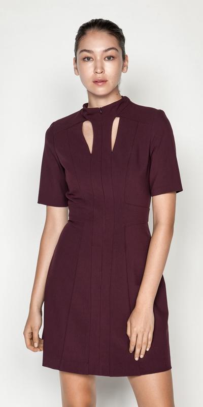 Dresses | Plum Cut Out Mini Dress