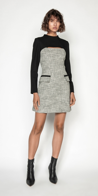 Made in Australia | Tweed Keyhole Mini Dress