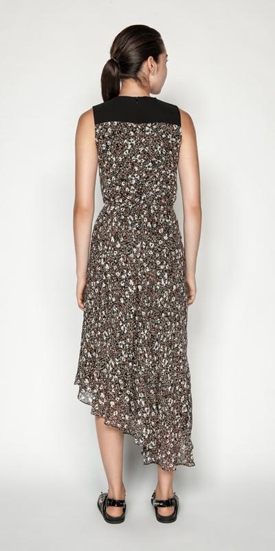 Dresses | Floral Animal Viscose Midi Dress