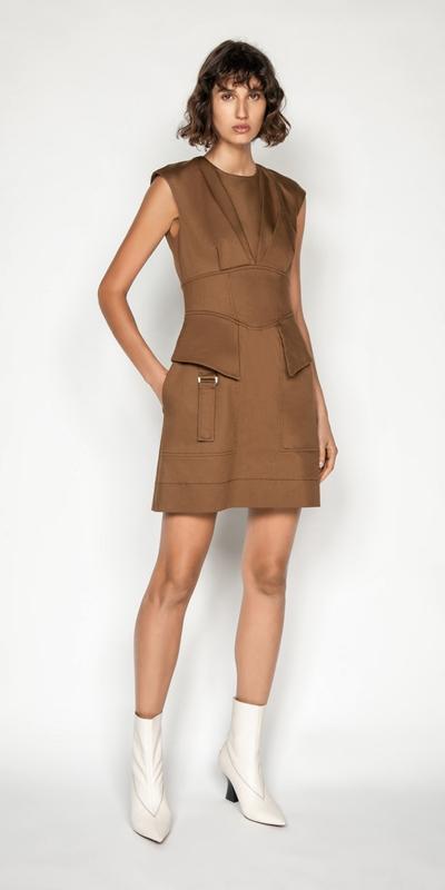 Dresses | Cotton Utility Corset Dress