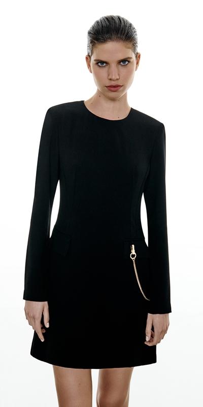 Dresses  | Chain Long Sleeve Shift Dress