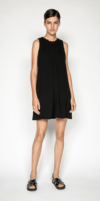 Made in Australia | Crepe Pleat Front Dress