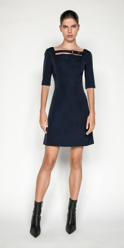Dresses | Fine Faille A-line Dress
