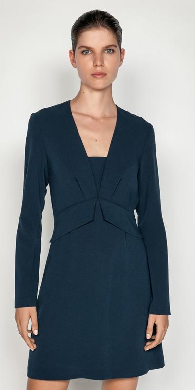 Dresses  | Teal Long Sleeve Dress