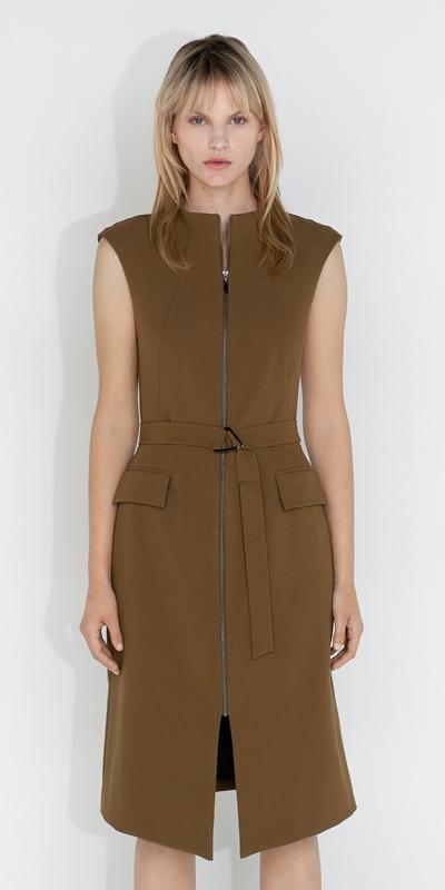 Dresses  | Belted Split Front Dress