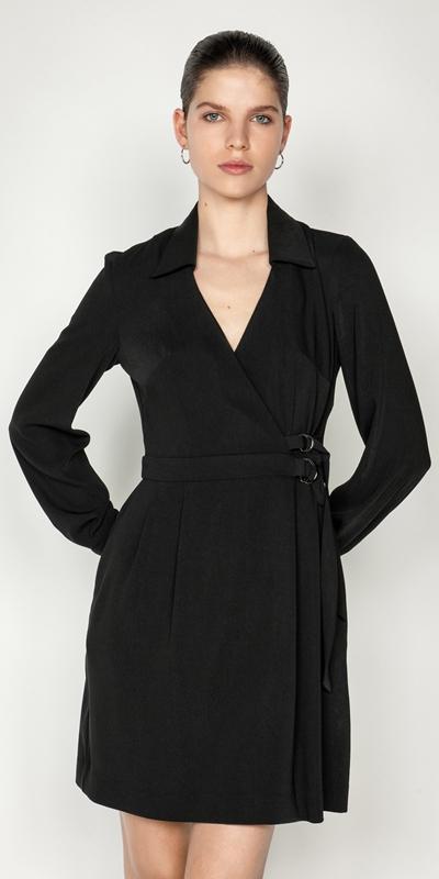 Dresses  | Drapey Wrap Front Mini Dress