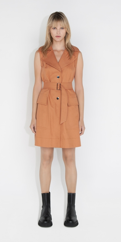 Dresses | Cotton Trench Dress