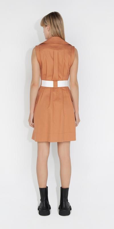 Dresses   Cotton Trench Dress