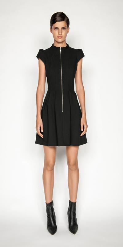 New Arrivals | Cap Sleeve Zip Front Dress
