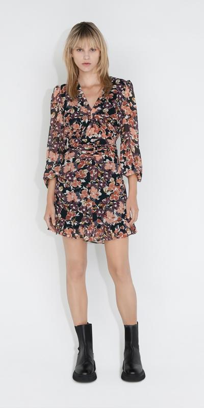 Dresses | Peony Floral Twist Front Dress