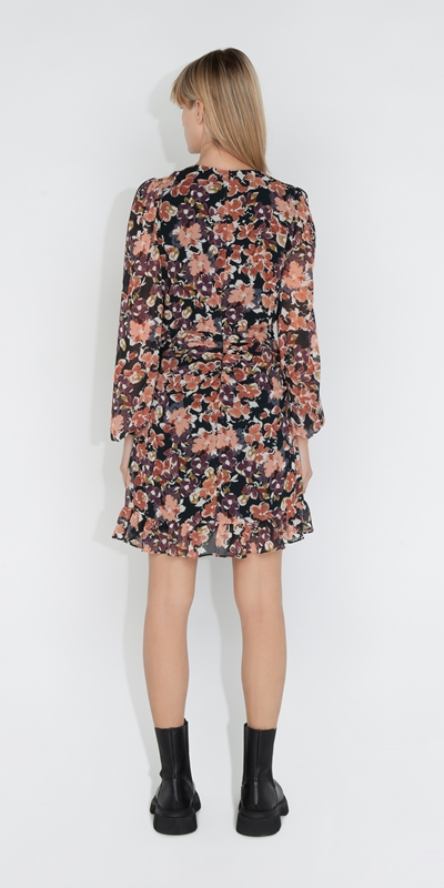Dresses   Peony Floral Twist Front Dress