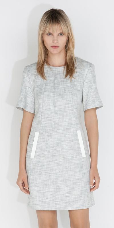 Dresses  | Tweed V Back Dress