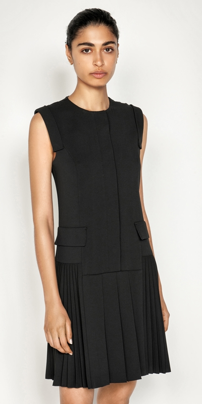 Dresses  | Pleated Snap Front Dress