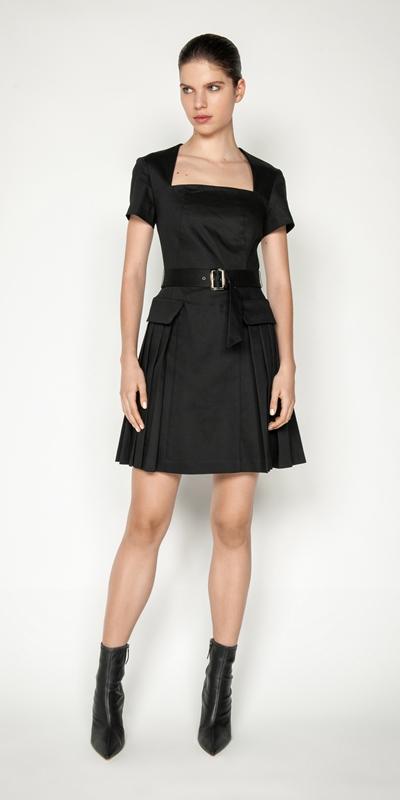 Dresses | Cotton Pleated Dress