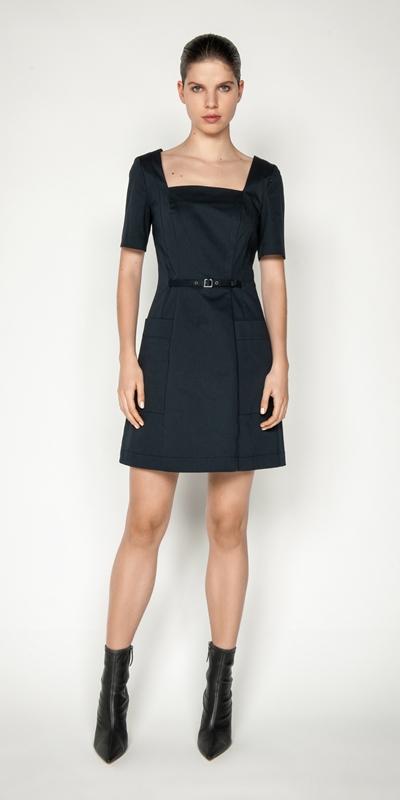 Dresses | Cotton Square Neck Mini Dress