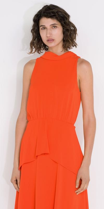 Dresses  | Draped Tie Back Midi Dress