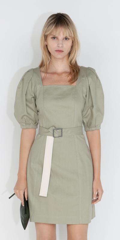 Dresses  | Cotton Puff Sleeve Dress